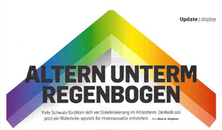 Display-Magazin: Altern unterm Regenbogen