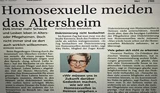 Bote der Urschweiz: Homosexuelle meiden das Altersheim