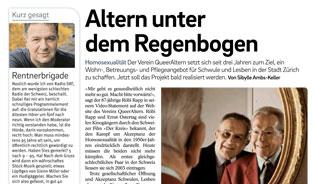 Tagblatt der Stadt Zürich: Altern unter dem Regenbogen