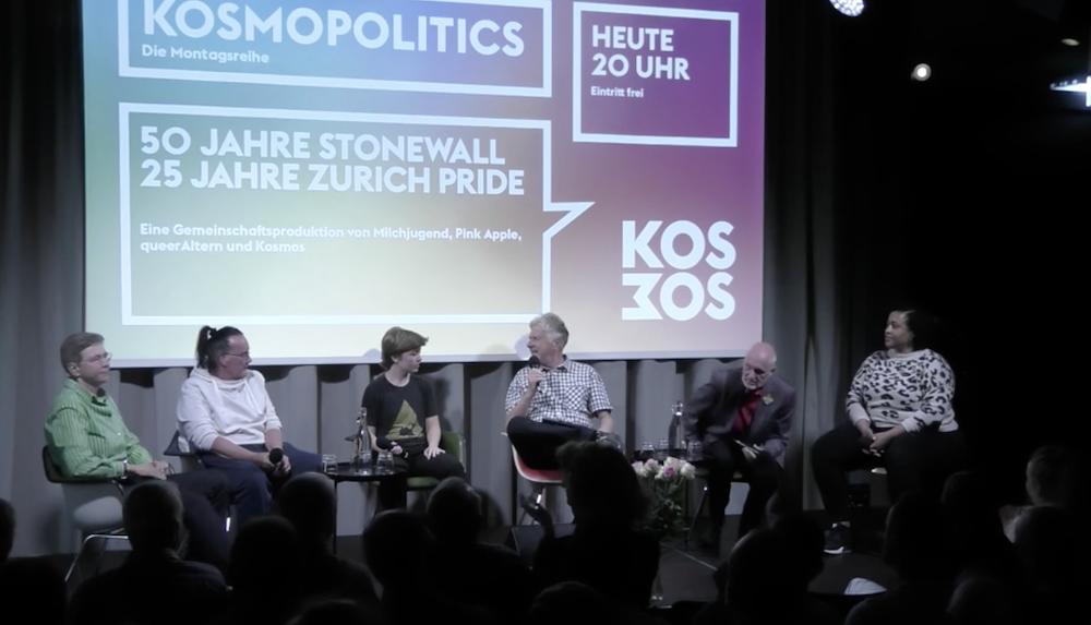 Lifestream: 50 Jahre Stonewall – Kosmopolitics-Podiumsgespräch